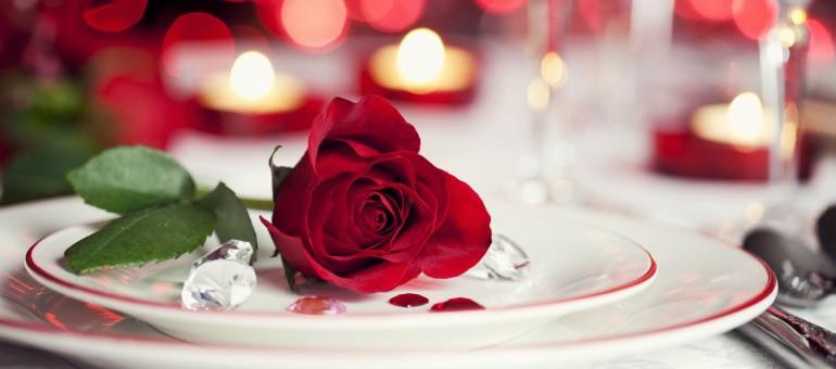 алая роза лежит